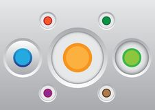 Free Button Icon Set Royalty Free Stock Photos - 23875088