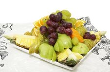 Free Plate With Fruits And Berries Stock Images - 23876324