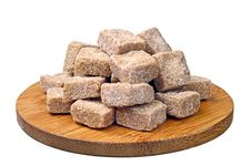 Free Cubes Of Brown Cane Sugar Stock Photography - 23878542