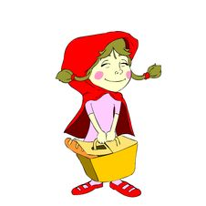 Free Isolated Little Red Riding Hood Royalty Free Stock Photos - 23878998