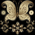 Free Gold Vintage Butterfly Stock Photo - 23889210