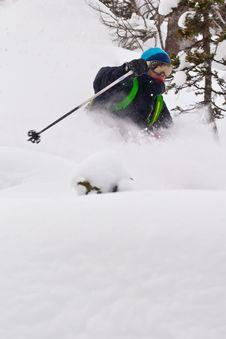 Free Freerider Skiing In Siberia Stock Photography - 23880942
