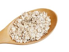 Free Oats Seed In Spoon Royalty Free Stock Image - 23883496