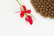 Free Chocolate And Rose In The Valentine S Day Stock Photography - 23884312