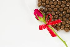 Free Chocolate And Rose In The Valentine S Day Stock Photo - 23884330