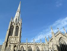 Free Church Cross And Spires Stock Image - 23884421