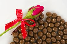 Free Chocolate And Rose In The Valentine S Day Stock Images - 23884804
