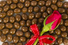 Free Chocolate And Rose Stock Photos - 23884823