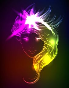 Free A Light Girl Face. Royalty Free Stock Photography - 23885467