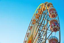 Ferris Wheel At  Sunrise Stock Image