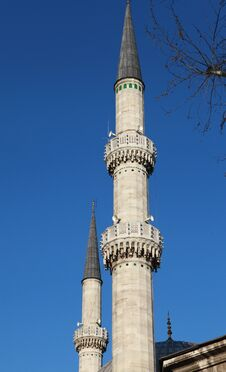 Free Minarets Of Eyup Sultan Mosque, Istanbul. Stock Images - 23886774