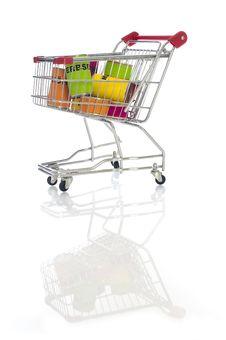 Free Shopping Cart Royalty Free Stock Photography - 23888877