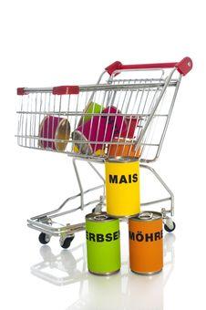 Free Shopping Cart Stock Image - 23888881