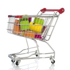 Free Shopping Cart Royalty Free Stock Photography - 23888897