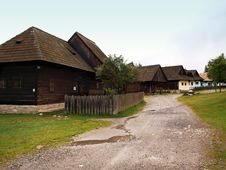 Native Slovak Houses Stock Photos