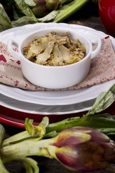 Free Risotto With Artichokes Stock Photos - 23891323