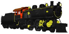 1800 S Steam Locomotive With Coal Car Royalty Free Stock Photo