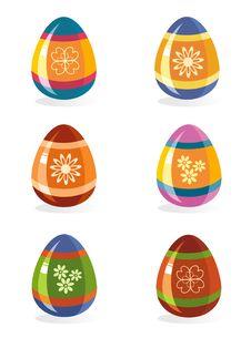 Free Easter Eggs Icon Set Royalty Free Stock Photos - 23894608