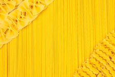 Free Set Of Pasta And Spaghetti As Background Stock Photos - 23895533