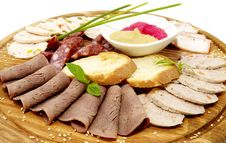 Free A Plate Of Sausage Stock Photos - 23895803