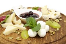 Free A Plate Of Cheese Royalty Free Stock Image - 23895806