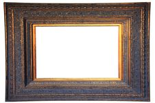 Free Vintage Gold Wood Frame Royalty Free Stock Photo - 23896425