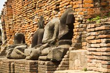 Ancient Ruin Buddha Image Royalty Free Stock Photo