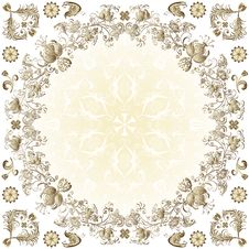 Free Gold Easter Round Frame Royalty Free Stock Photo - 23897315