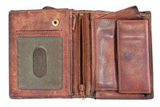 Old Leather Purse Royalty Free Stock Image