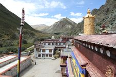 Buddhist Monastery In Tibet Royalty Free Stock Images