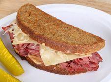 Grilled Reuben Sandwich Royalty Free Stock Photo