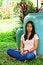 Free Young Girl Sleep In The Garden Royalty Free Stock Photos - 23895878