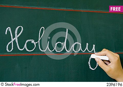 Free On Table Word Holiday Royalty Free Stock Image - 2396196
