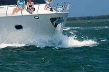 Free Ocean Bound Family Yacht Stock Photo - 2390110