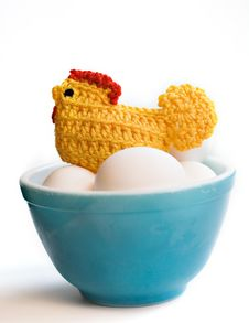 Free Crocheted Chicken Stock Image - 2390851