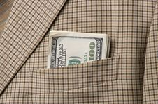 Free Money In A Pocket Stock Photography - 2391352