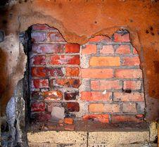 Brick Wall And Rust