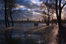 Free Flood Of The River Neva Stock Image - 2391941