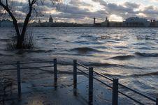 Free Rising Of Water On Sunrise Royalty Free Stock Image - 2391976