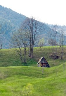 Free Small House On The Hill Stock Images - 2392104