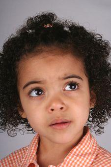 Free Girl In Orange Shirt Royalty Free Stock Photos - 2393048