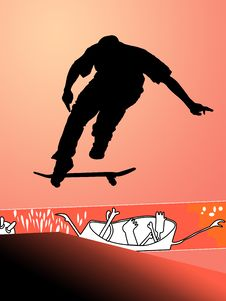 Free Flying Skater Royalty Free Stock Photography - 2396287
