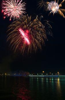 Free Fireworks. Three Some Royalty Free Stock Photo - 2398145