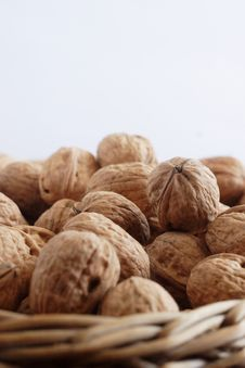 Free Walnuts On The Basket Royalty Free Stock Photo - 2398395