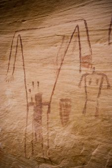 Free Cedar Mesa - Anasazi Rock Art Royalty Free Stock Image - 2398556