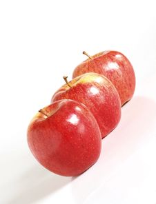 Free Three Red Apples Royalty Free Stock Photography - 2398667