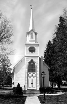Free Church With Steeple Stock Image - 2399341