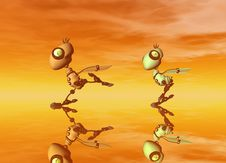 Free Robot Birds Royalty Free Stock Image - 2399506