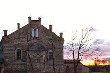 Synagogue On Sunrise Royalty Free Stock Photo