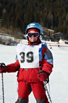 Free Child In The Ski Resort Royalty Free Stock Photos - 23901858